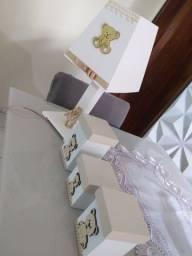 Kit higiênico bege com branco