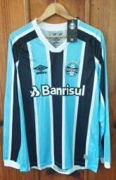 Camisa Grêmio 2021/22 Manga Longa Tricolor