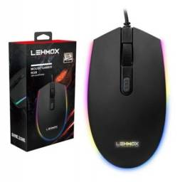 Mouse Gamer Óptico Lehmox  Hyper Gt Led Rgb Dpi 4 Botões GT-M3 GT-M6 Com Fio
