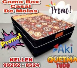 Título do anúncio: Cama Box de Casal Molas - Entregamos ##