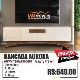 Título do anúncio: Bancada P/ TV Até 70 Polegadas - Aurora Só Hoje Entregamos e Parcelamos no Cartão