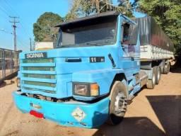 Scania 113H trucado engatado em carreta LS 13,50 mts