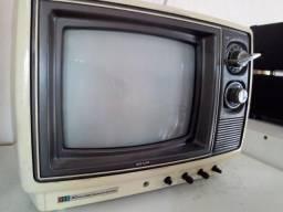 Tv antiga Semp 10pol-colorida -funcionando