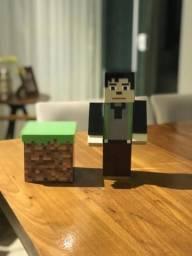 Boneco Minecraft de acrílico decorativo