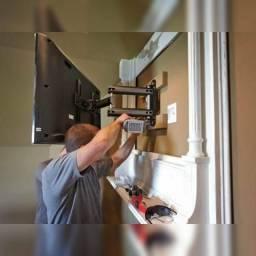 Instalação de suportes articulados de TV, Projetores, Portas