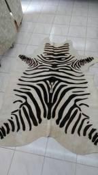 Tapete couro natural textura de zebra