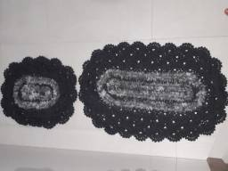 Kit de banheiro Tapete de pia + tampa de vaso