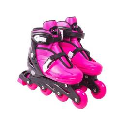 Patins Roller Radical Infantil Feminino Rosa Bel Sport