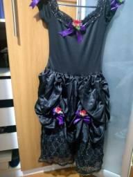 Fantasia viúva negra infantil - tamanho 14/ PP adulto