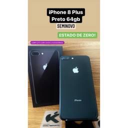 iPhone 8 Plus Preto 64gb - Estado de Zero! Completo!