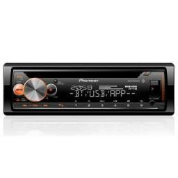 CD Player Pioneer DEH-X5000BR Preto Bluetooth USB Frontal<br><br>