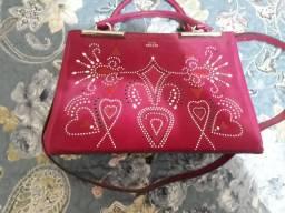 Bolsa couro pink original Arezzo
