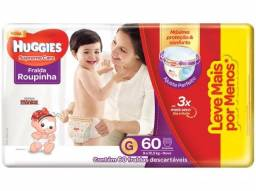 Título do anúncio: Fralda Roupinha Huggies - G/60 XG/48 fraldas