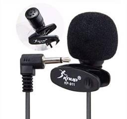 Microfone De Lapela P2 Stereo Profissional
