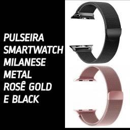 Pulseira milanese smartwatch e Apple whatch