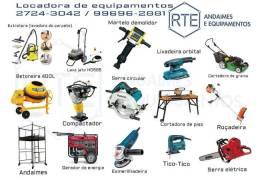 Locação de andaimes e ferramentas