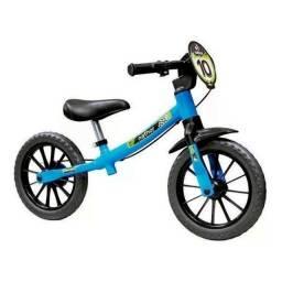 Título do anúncio: Bicicleta Balance Infantil Equilíbrio Azul Nathor Sem Pedal - Nova