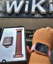 Título do anúncio: Relógio Smartwatch inteligente - Android e ios (Lojas WiKi)