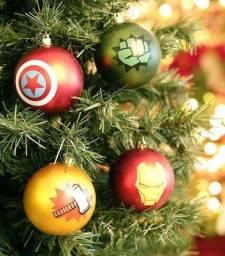 Título do anúncio: Bolas de Natal Super Heróis