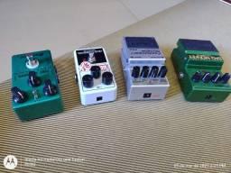 Pedais de guitarra boss, EH, digitech, tc eletronics