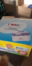Título do anúncio: Esterilizador de mamadeira para microondas + 3 mamadeiras avents