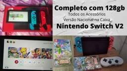Título do anúncio: Nintendo Switch versão Nacional. O mais completo da Olx