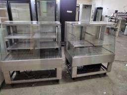 Título do anúncio: Refrigerador e estufa dois balcões expositores em inox