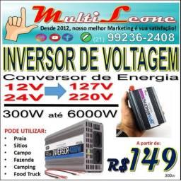 Inversor de Voltagem Conversor de Energia Muito Útil em vários locais