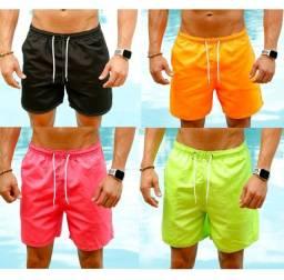 Título do anúncio: Shorts Neon Praia Bermuda Masculino Tactel Verão Neymar Estilo Lazer Conforto<br>