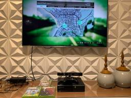 Título do anúncio: X BOX 360 (4GB + KINECT+ 3 JOGOS ORIGINAIS  e 1 CONTROLE)