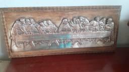 Título do anúncio: Quadro  da Santa Ceia  de  bronze com prata