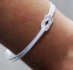 Título do anúncio: Pulseira dois fios prata nó