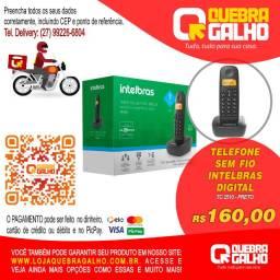 Telefone Sem Fio Intelbras Digital Preto TC 2510