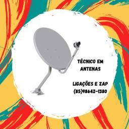 Título do anúncio: Antenas-Apontamento-Instalação de antenas -venda de receptores