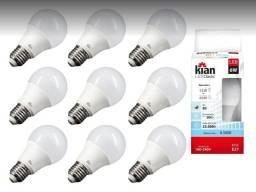 KIT 10 LAMPADAS BULBO LED KIAN 6W - 6500K