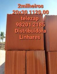 Distribuidora Linhares Tijolo de Campos 20x30 560,00