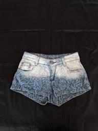 Shorts jeans estampado