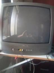 """TV Philips 20"""" tubo com controle"""