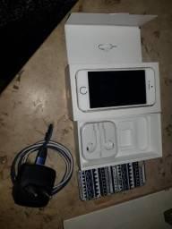 IPhone 5s, aceito troca por 6 trincado sem biometria