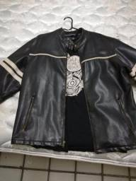 Jaqueta de couro motociclista importada dos estados unidos