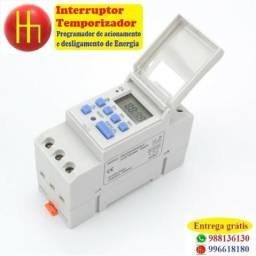Interruptor Temporizador programador liga e desligar - entrega grátis