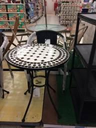 Cj Mesa Bistrô Black Mosaico 3PÇS