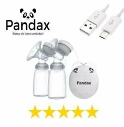 Tira leite elétrica dupla Pandex + 4 Potes