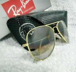 b9f3c8c29 Óculos de Sol Ray Ban Aviador Marrom Degradê 3025 3026 Unissex