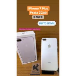 iPhone 7 Plus Prata 32gb - Estado de Zero!