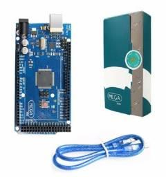 Arduino Mega 2560 + Shield Ethernet W5100 + Cabo Usb E Rede