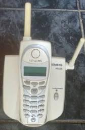 Telefone Sem Fio Siemens A5500 Com 2 Baterias e Manual em Português