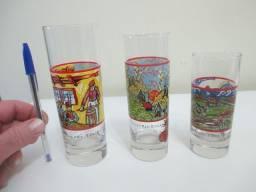 Trio de lindos copos de drinks Vincent Van Gogh Spirits