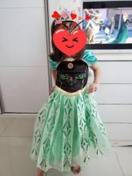 Vestido fantasia Ana (Frozen)