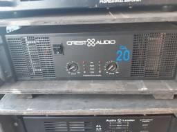 Amplificador de potencia Crest audio CA 20 usado